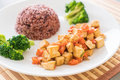 Stir Fried Tofu and Carrot with Berry Rice