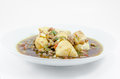Stir fried tofu with pork thai food Royalty Free Stock Photography