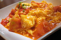 Stir fried tomato and egg Royalty Free Stock Photo