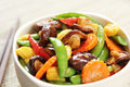 Stir fried vegetable with mushroom Stock Photo