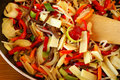 Stir-fried vegetables Stock Images