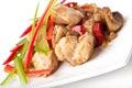 Stir fry chicken Stock Photo