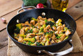 Stir fry chicken with broccoli and mushrooms chinese food Royalty Free Stock Photo