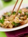 Stir fry chopstick closeup Stock Image