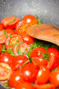 Stir fry tomatoes Stock Photography
