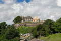 Stirling castle scotland ancient cemetery Stock Photo