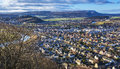 Stirling from Wallace Monument Royalty Free Stock Photo