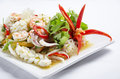 Stirred fried seafood Stock Images