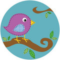 Stitch Bird on Tree Branch Stock Photo
