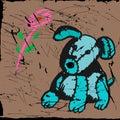 Stitch toy, dog, pup Royalty Free Stock Photo