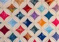 Stitching patterns, bedspread Royalty Free Stock Photo