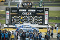 Stock Car Brazil Winners Royalty Free Stock Photo