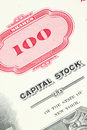 Stock certificate Royalty Free Stock Photo