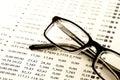 Stock chart analysis Royalty Free Stock Photo
