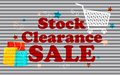 Stock Clearance Sale Stock Images