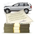 Stock compensation for insurance as a result of an automobile accident Royalty Free Stock Images