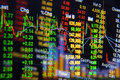 Stock exchange graph background. Royalty Free Stock Photo