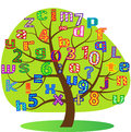 Stock figure tree symbol alphabet Stock Images