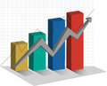 Stock Graph 3d Chart up trend Royalty Free Stock Photo