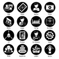 Stock icons black photo and video set isolated vector illustration Stock Photo