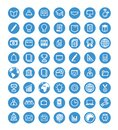 Thin line web icon set. Royalty Free Stock Photo
