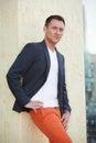 Stock image of a fashionable man Stock Photos