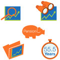 Stock investment icons an image of Royalty Free Stock Photos