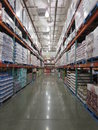 Stock kept in the warehouse of a supermarket Royalty Free Stock Photo