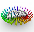 Stock Market - Arrows Rising Royalty Free Stock Photo