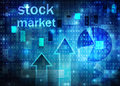 Stock market chart on technology background Royalty Free Stock Photo