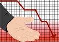 Stock market crash recession Royalty Free Stock Photo