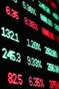 Stock market crash sell off red finance numbers Stock Images
