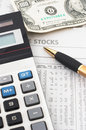 Stock market data analysis, financial Royalty Free Stock Image