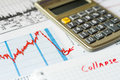 Stock market decline the counting losses and analysis of data Stock Photo