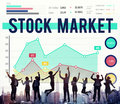 Stock Market Economy Finance Forex Shares Concept Royalty Free Stock Photo