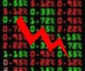 Stock market exchange going down Royalty Free Stock Photos