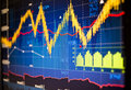 Stock market graphs index background Royalty Free Stock Images