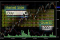 Stock market trading screens Royalty Free Stock Photography