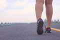 Stock photo athlete running sport feet on trail healthy lifest lifestyle fitness Stock Photo