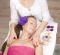 Stock photo attractive lady getting spa treatment in salon Royalty Free Stock Photography