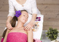 Stock photo attractive lady getting spa treatment in salon Stock Image