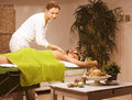 Stock photo attractive lady getting spa treatment in salon Stock Images