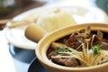 Stock photo bak kut teh braised pork ribs in herbal tea soup Stock Photo