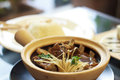 Stock photo bak kut teh braised pork ribs in herbal tea soup Stock Photography