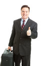 Stock Photo of Business Traveler Thumbsup Royalty Free Stock Photo