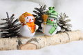 Stock Photo : Christmas Snowman Family Royalty Free Stock Photography