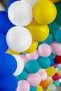 Stock photo colorful balloons background soft focus decorative balloon Stock Photos