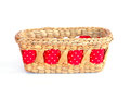 Stock photo composition of brown wicker baskets box shaped Royalty Free Stock Photography