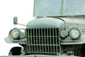 Stock photo military vehicle on the white background Royalty Free Stock Image