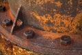 Stock photo old rusty metal nut on iron water valve Stock Photos